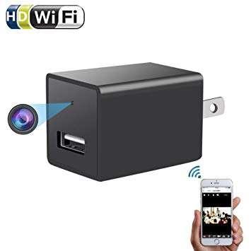 WIFI AC Plug Spy Camera USB Wall Charger Hidden Spy Wifi Camera