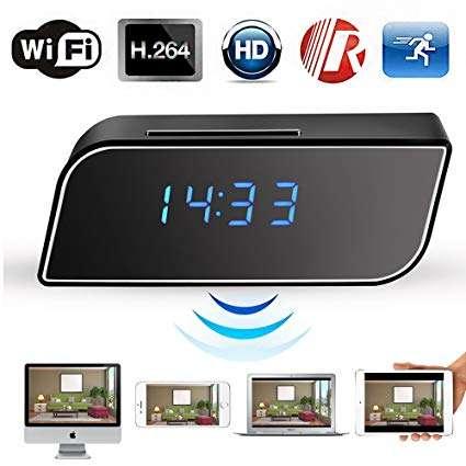 WIFI/ IP HD Table Clock Camera