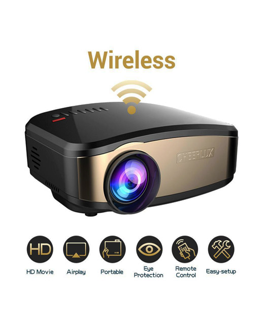 Cheerlux C6 Best Wifi Home Entertainment Projector HD LED TV