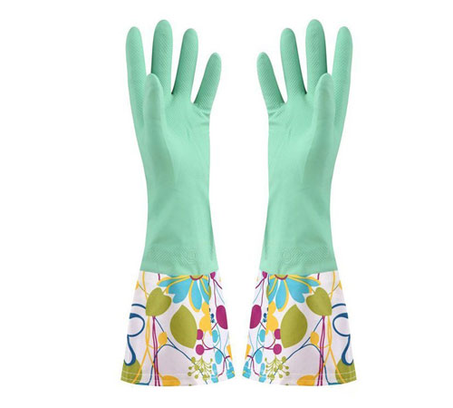 Rubber Cleaning Gloves Kitchen Dishwashing Glove
