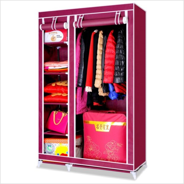 Wardrobe With Protective Cover
