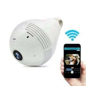 Spy WiFi IP P2P 360 Degree 3D Panoramic VR Bulb Camera HD