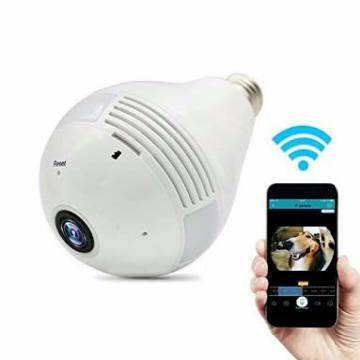 Spy WiFi IP P2P 360 Degree 3D Panoramic VR Bulb Camera HD
